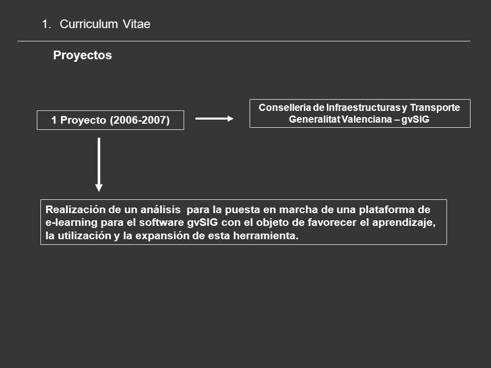Curriculum Vitae Proyectos 1 Proyecto (2006-2007)