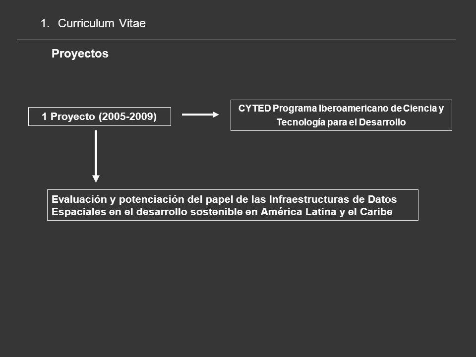 Curriculum Vitae Proyectos 1 Proyecto (2005-2009)
