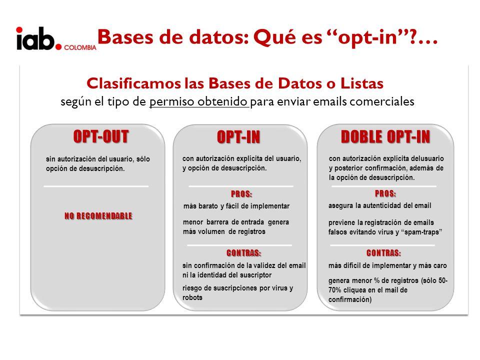 Bases de datos: Qué es opt-in …