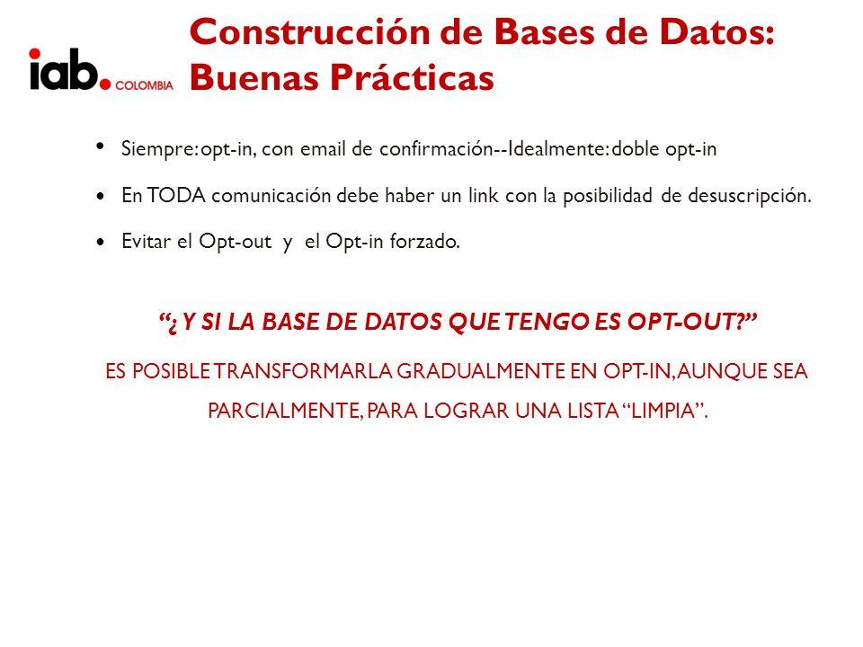 Construcción de Bases de Datos: Buenas Prácticas