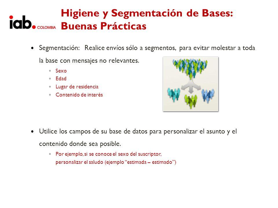 Higiene y Segmentación de Bases: Buenas Prácticas
