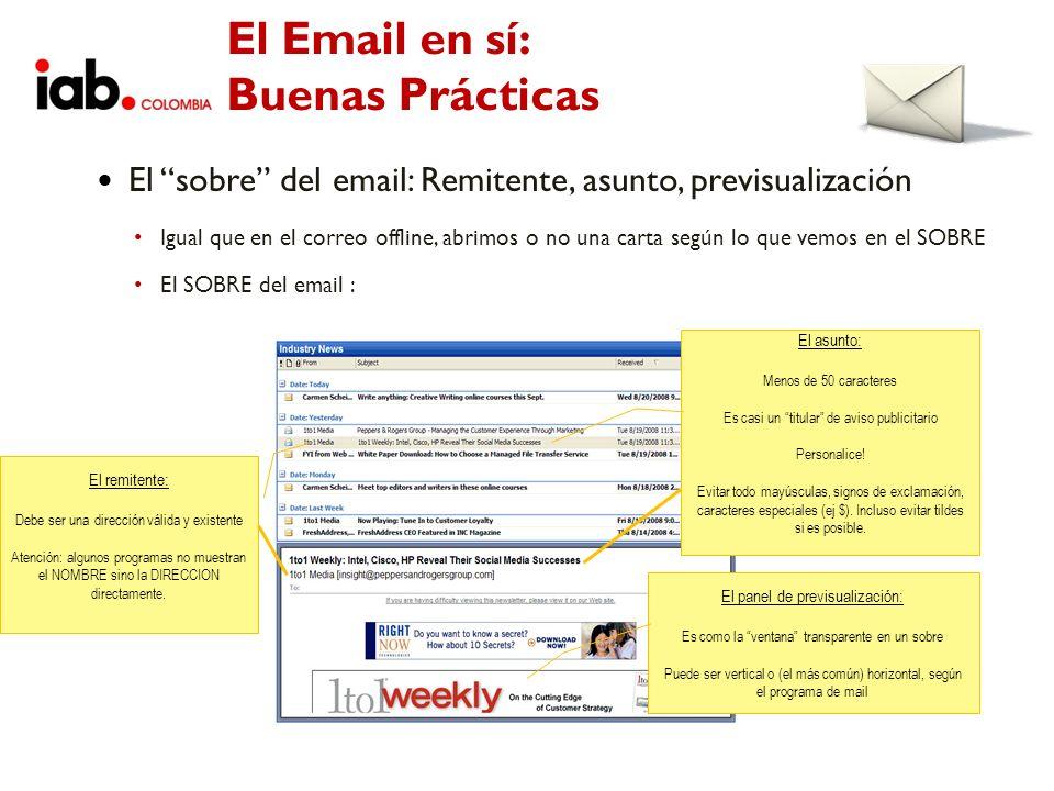 El Email en sí: Buenas Prácticas