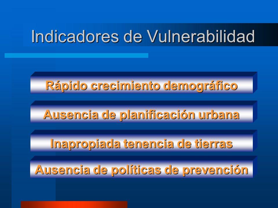 Indicadores de Vulnerabilidad