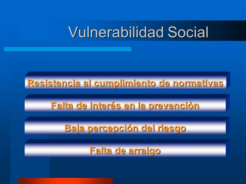 Vulnerabilidad Social