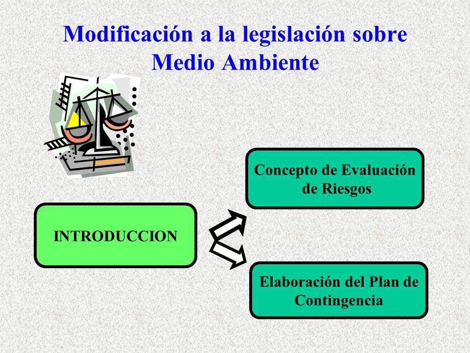 Modificación a la legislación sobre Medio Ambiente