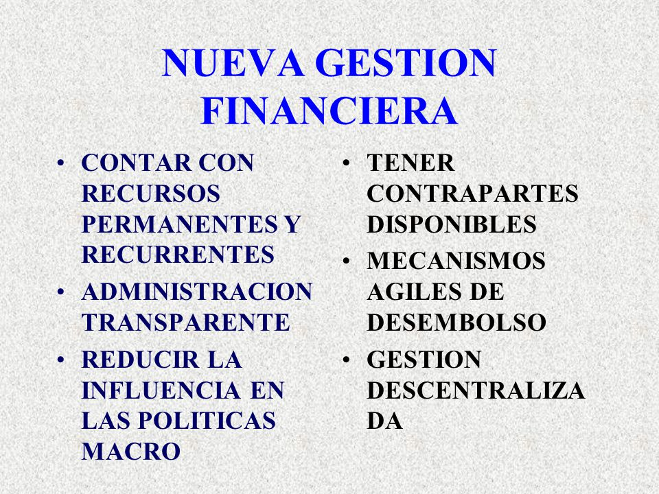 NUEVA GESTION FINANCIERA