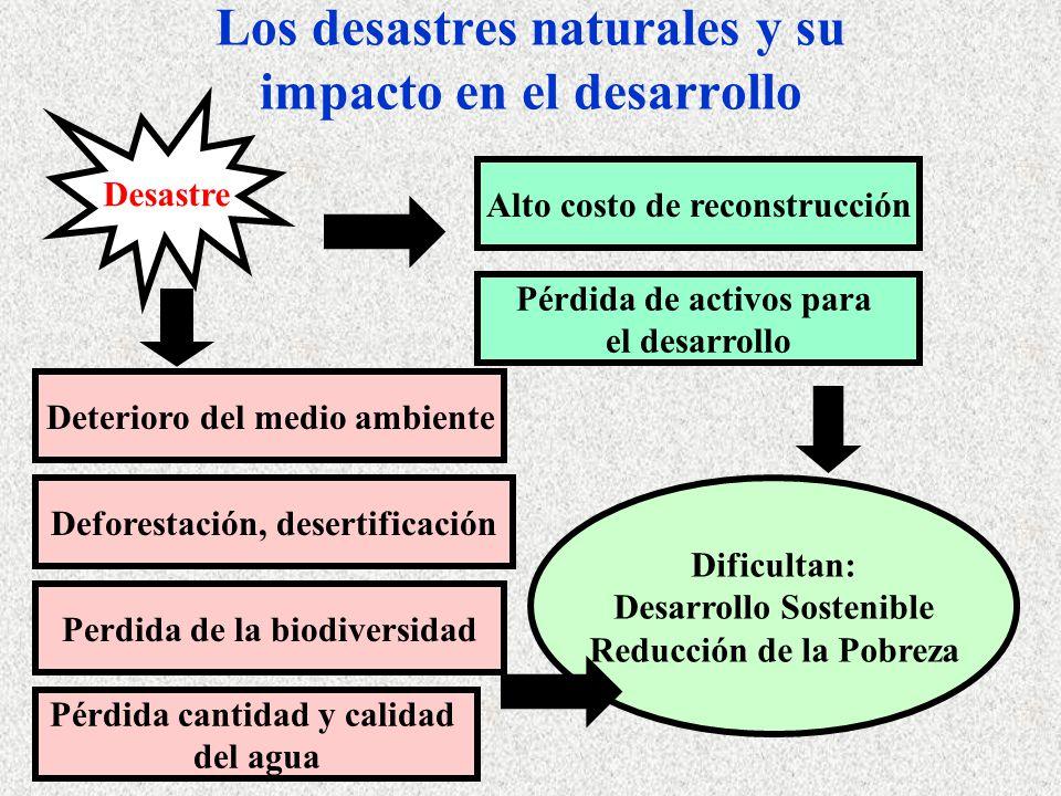 Los desastres naturales y su impacto en el desarrollo