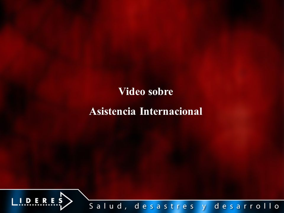 Asistencia Internacional