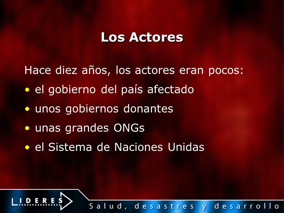 Los Actores Hace diez años, los actores eran pocos: