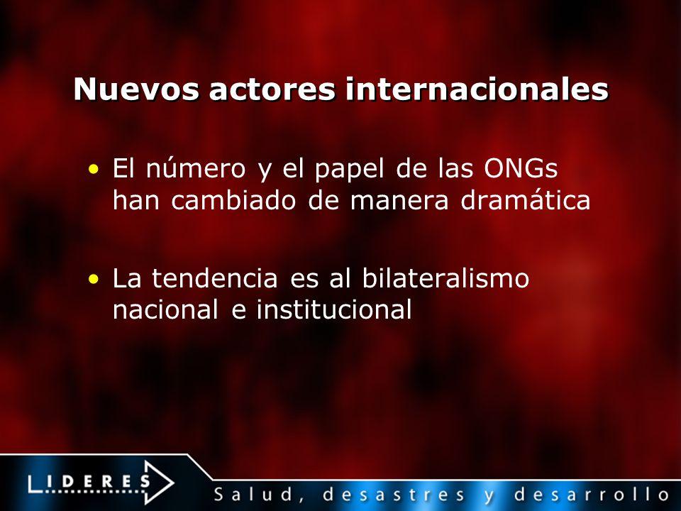 Nuevos actores internacionales