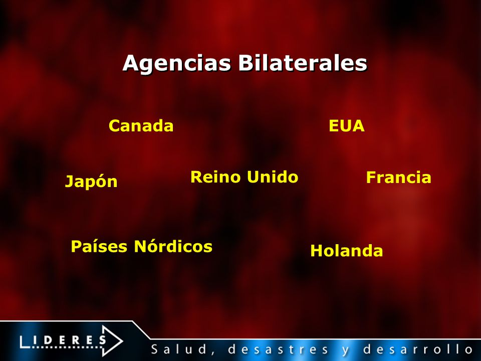 Agencias Bilaterales Canada EUA Reino Unido Francia Japón