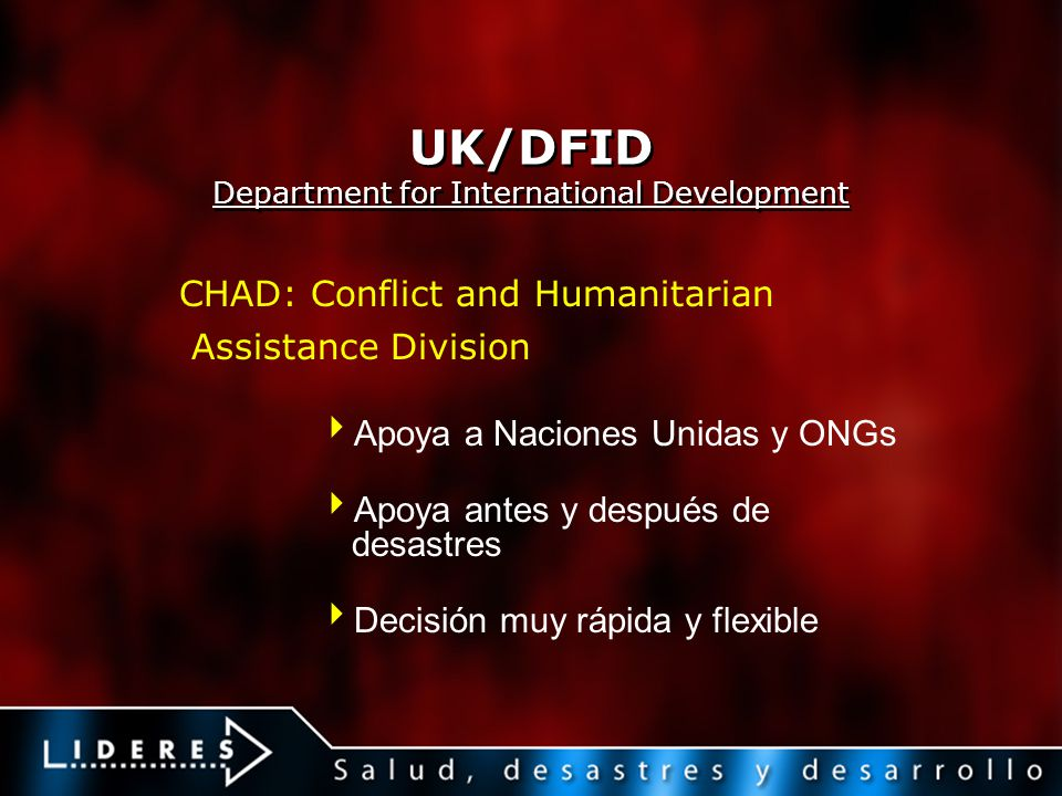 UK/DFID Department for International Development