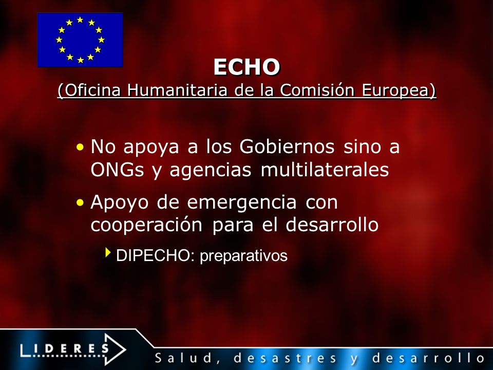 ECHO (Oficina Humanitaria de la Comisión Europea)