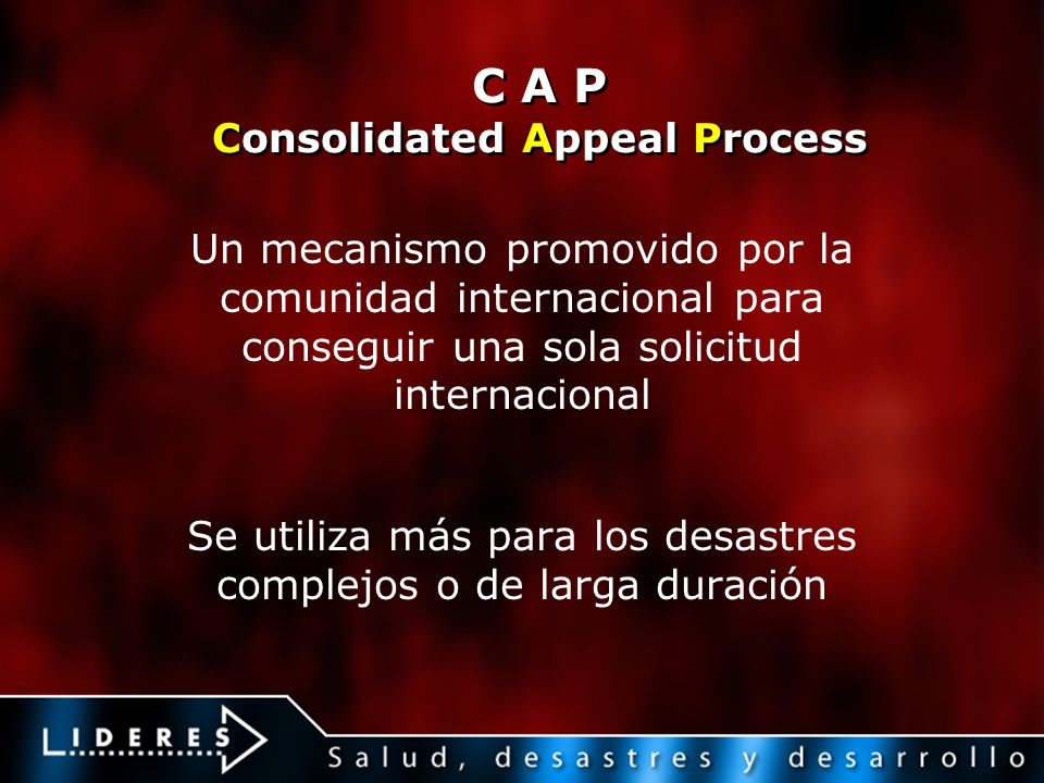 C A P Consolidated Appeal Process