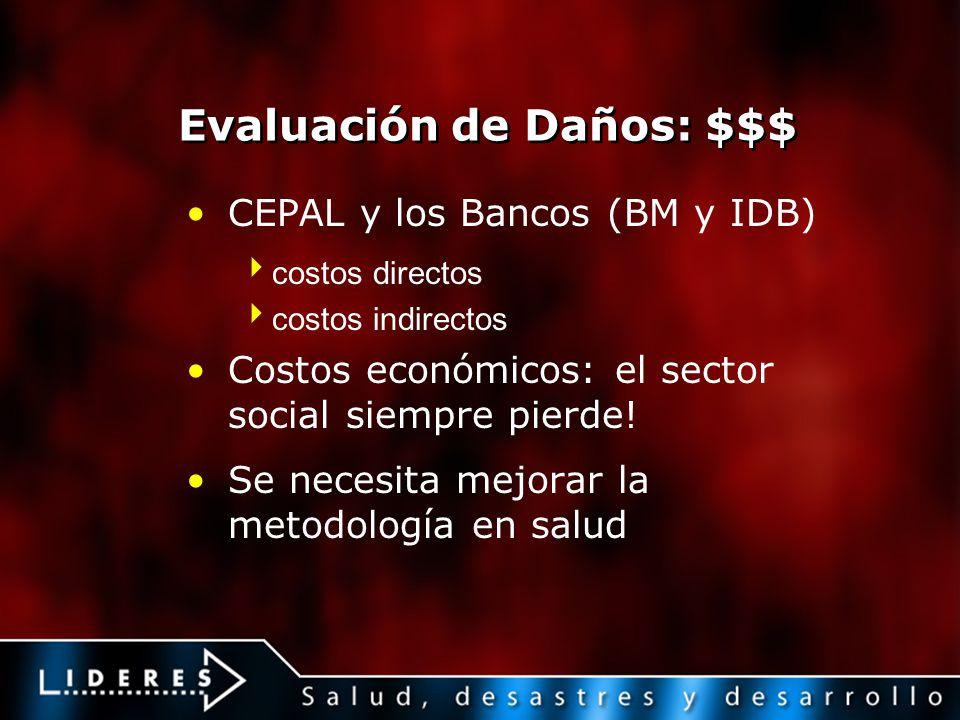 Evaluación de Daños: $$$