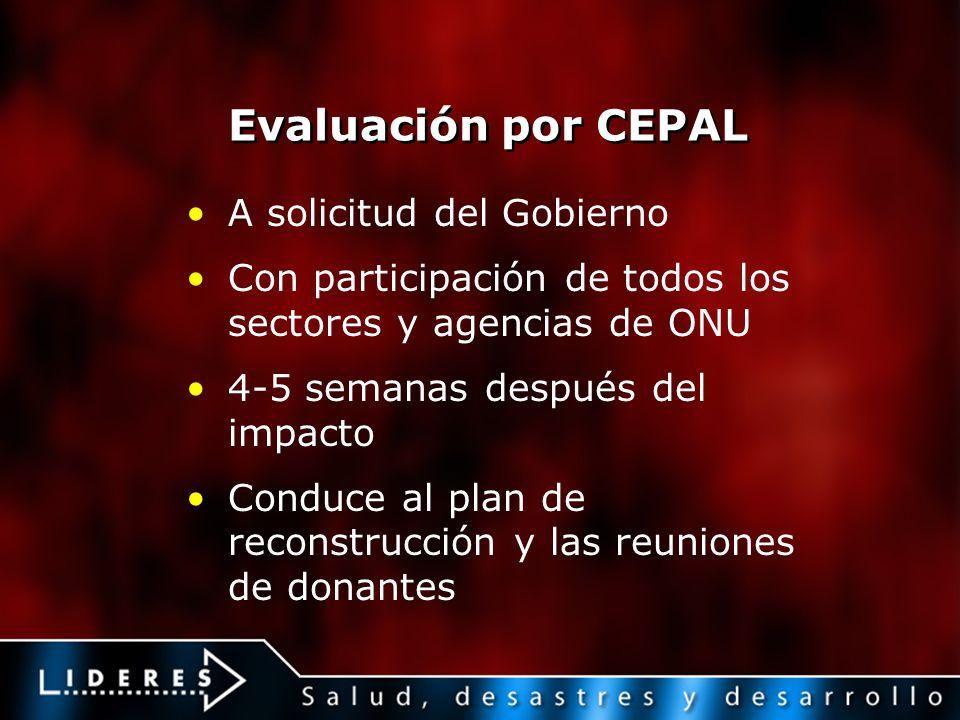 Evaluación por CEPAL A solicitud del Gobierno