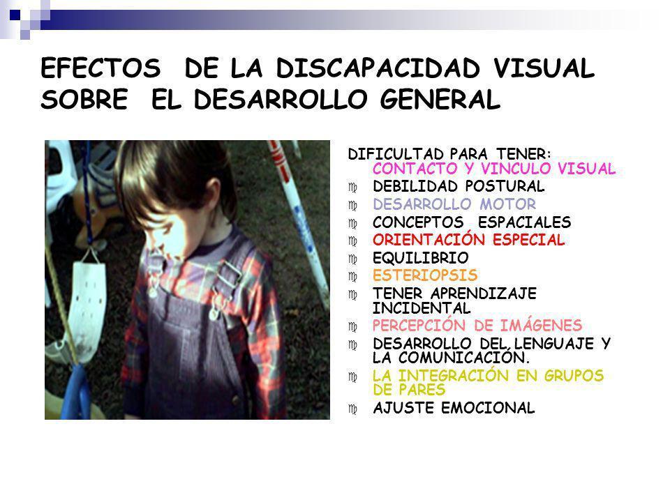 EFECTOS DE LA DISCAPACIDAD VISUAL SOBRE EL DESARROLLO GENERAL