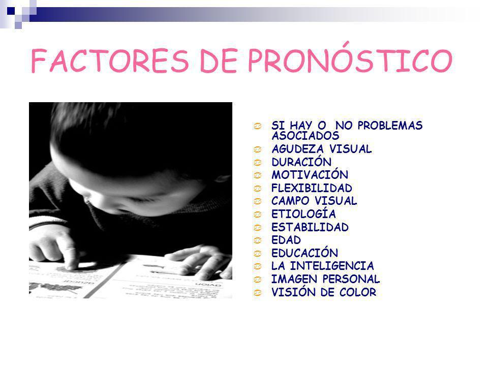 FACTORES DE PRONÓSTICO