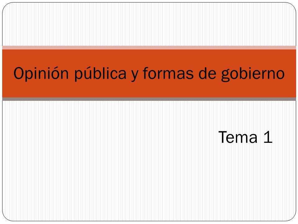 Opinión pública y formas de gobierno