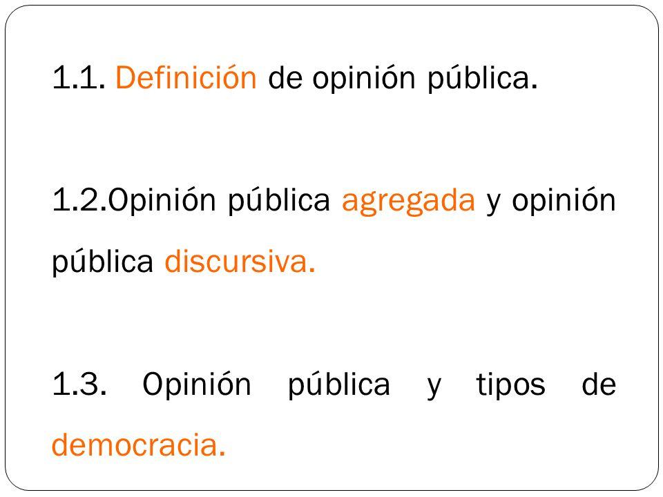 1.1. Definición de opinión pública.