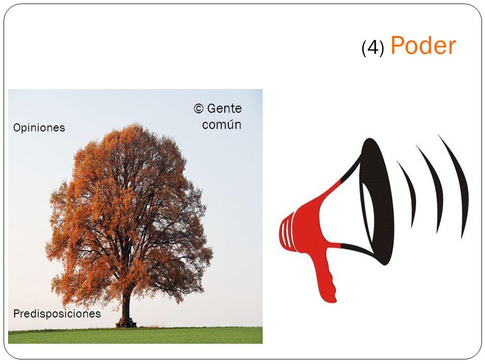 (4) Poder © Gente común Opiniones Predisposiciones