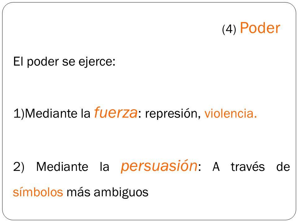 Mediante la fuerza: represión, violencia.