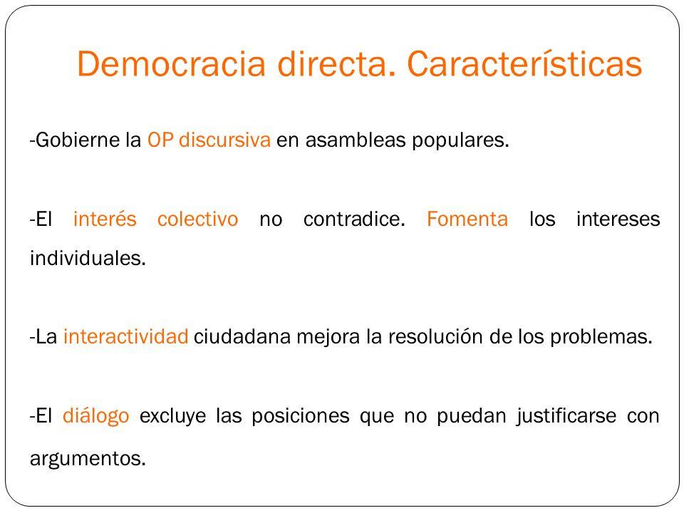 Democracia directa. Características