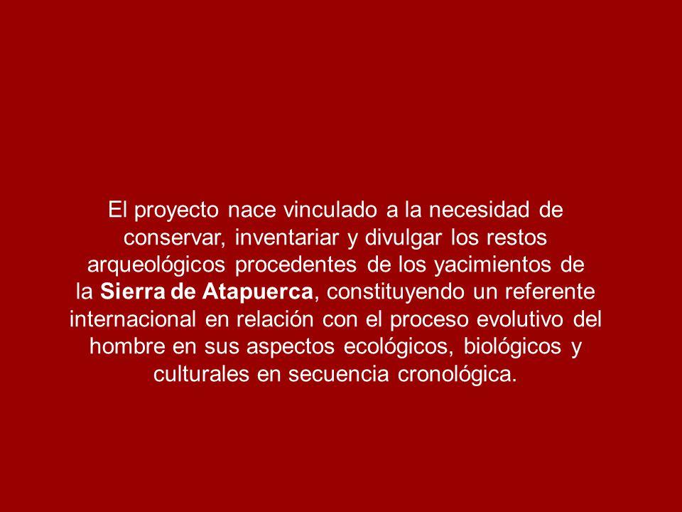 El proyecto nace vinculado a la necesidad de conservar, inventariar y divulgar los restos arqueológicos procedentes de los yacimientos de