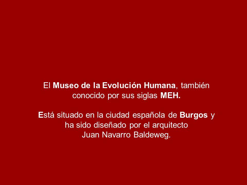 El Museo de la Evolución Humana, también conocido por sus siglas MEH.