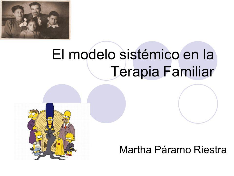 El modelo sistémico en la Terapia Familiar