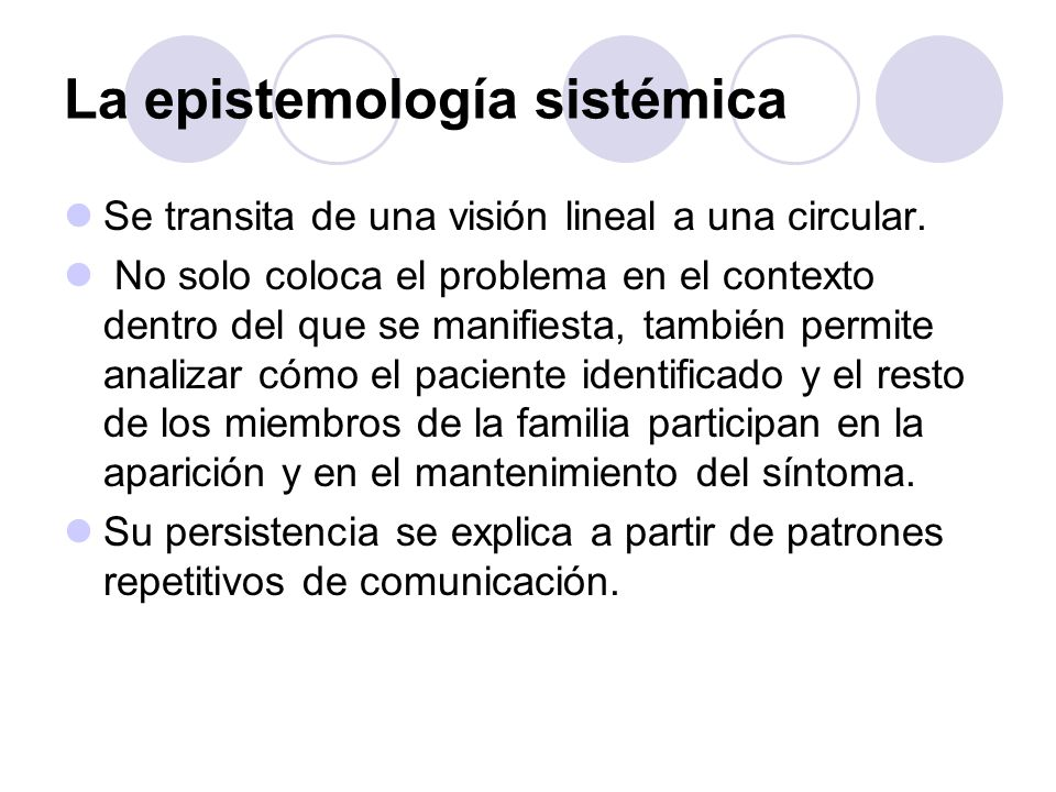 La epistemología sistémica