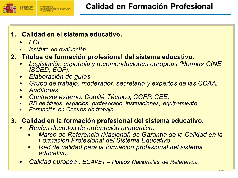 Calidad en Formación Profesional