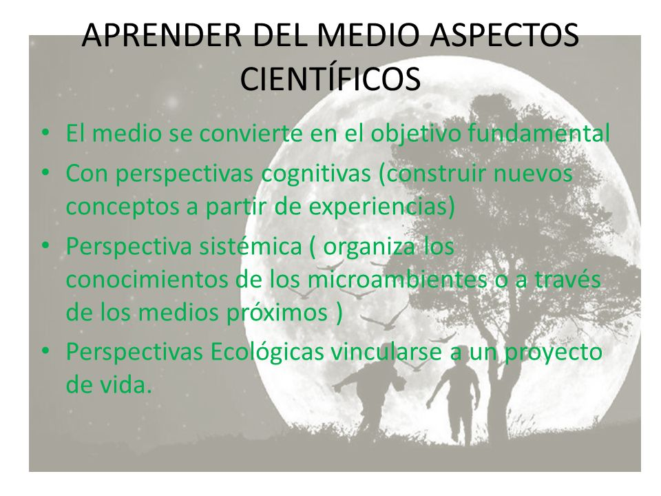 APRENDER DEL MEDIO ASPECTOS CIENTÍFICOS