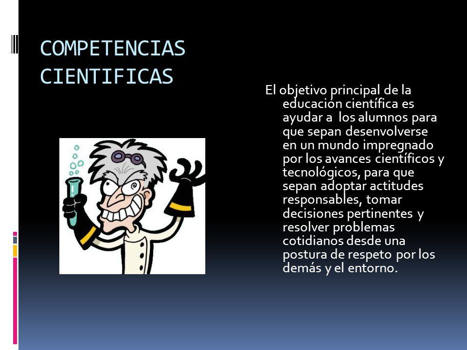 COMPETENCIAS CIENTIFICAS