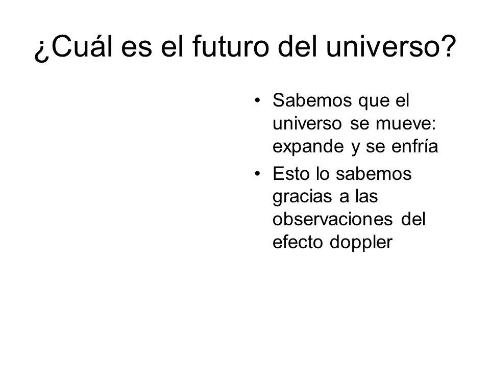 ¿Cuál es el futuro del universo