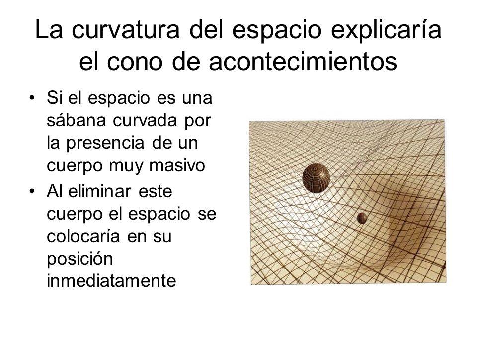 La curvatura del espacio explicaría el cono de acontecimientos