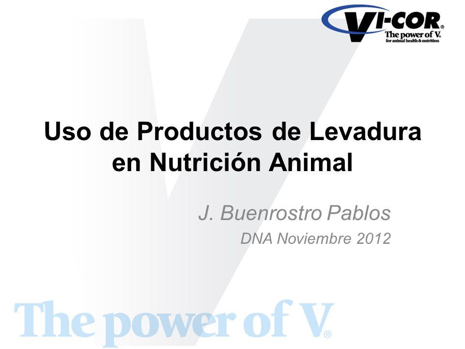 Uso de Productos de Levadura en Nutrición Animal