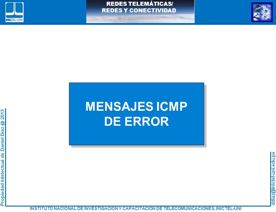 MENSAJES ICMP DE ERROR