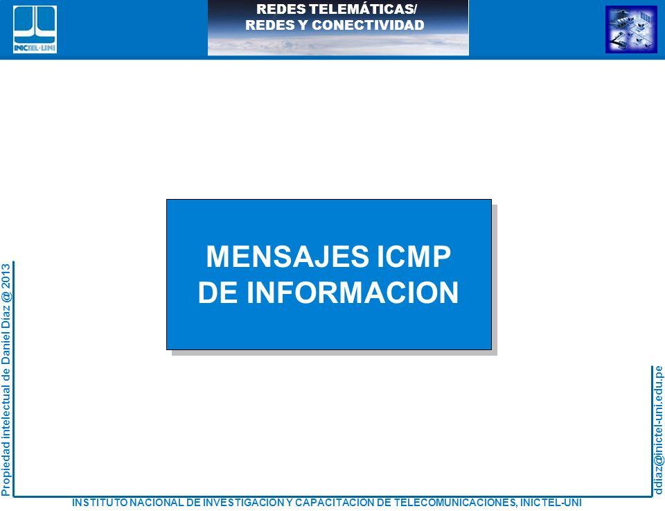 MENSAJES ICMP DE INFORMACION