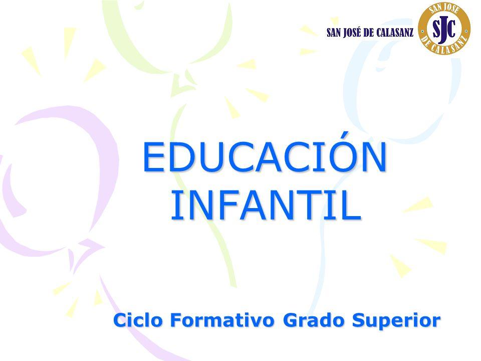 EDUCACIÓN INFANTIL Ciclo Formativo Grado Superior
