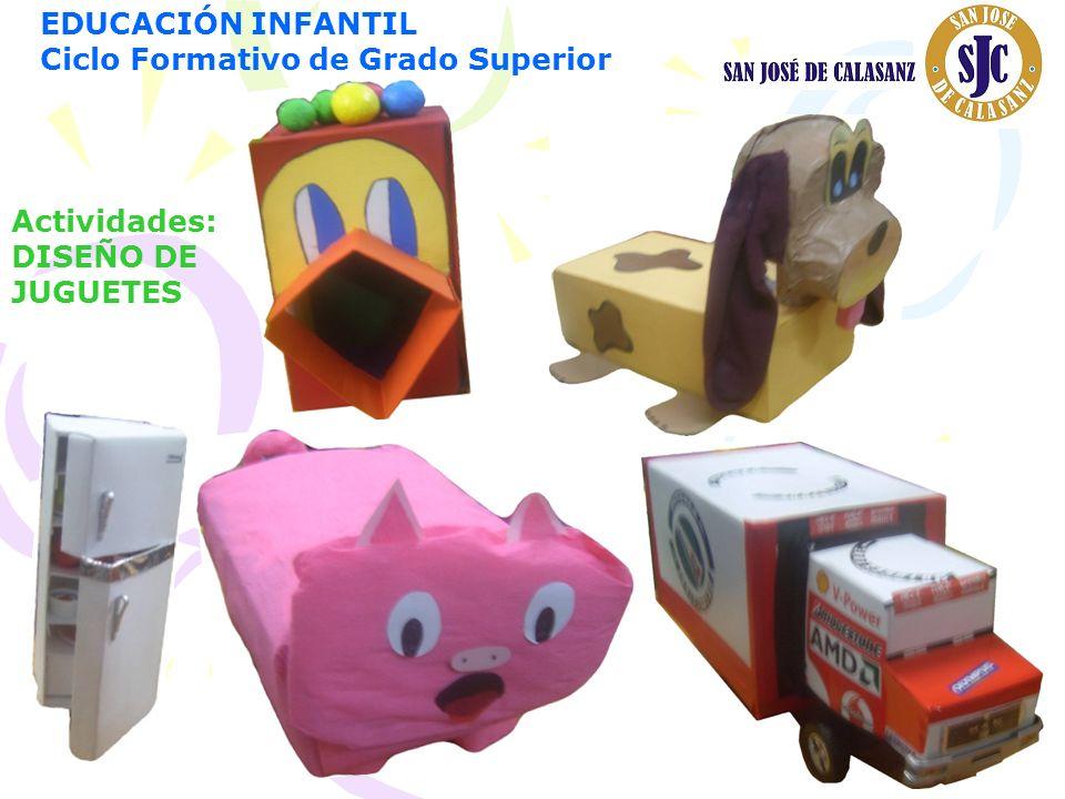 EDUCACIÓN INFANTIL Ciclo Formativo de Grado Superior Actividades: DISEÑO DE JUGUETES