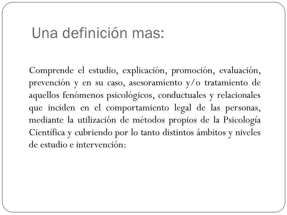 Una definición mas: