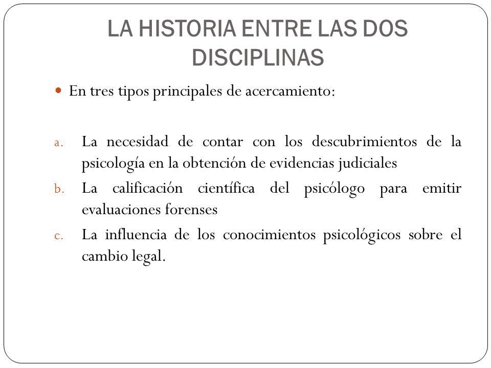 LA HISTORIA ENTRE LAS DOS DISCIPLINAS