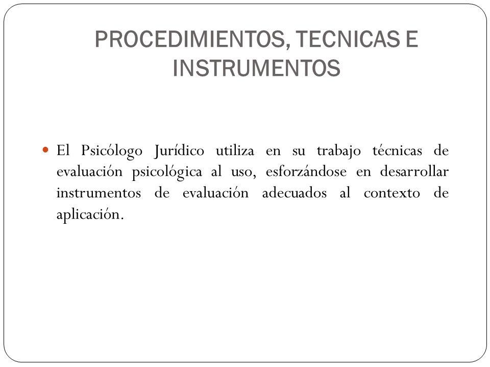 PROCEDIMIENTOS, TECNICAS E INSTRUMENTOS