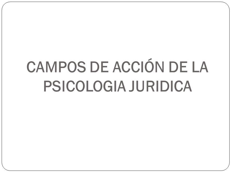 CAMPOS DE ACCIÓN DE LA PSICOLOGIA JURIDICA