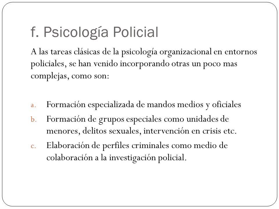 f. Psicología Policial