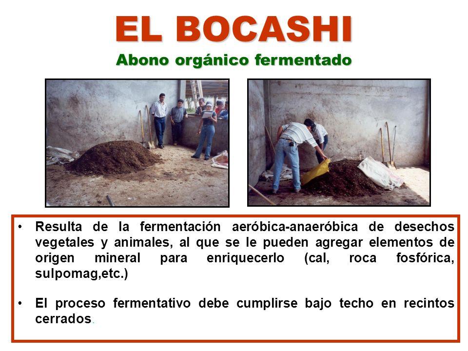 EL BOCASHI Abono orgánico fermentado