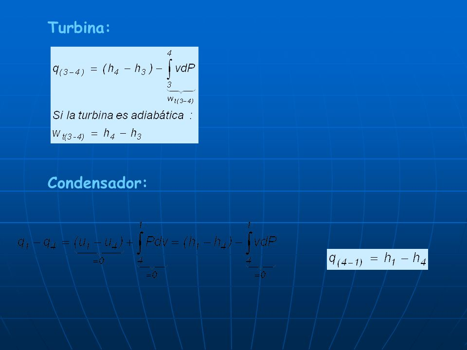 Turbina: Condensador: