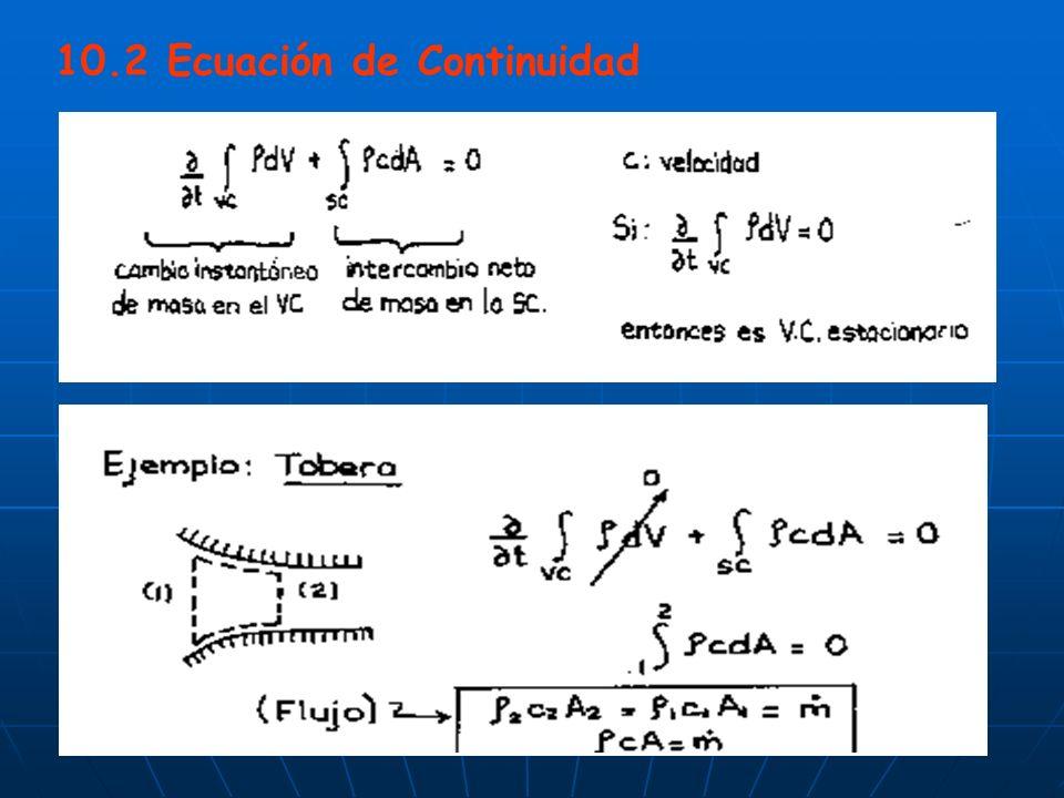 10.2 Ecuación de Continuidad