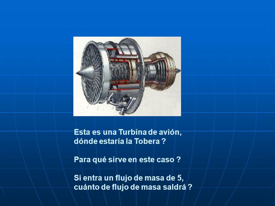 Esta es una Turbina de avión, dónde estaría la Tobera